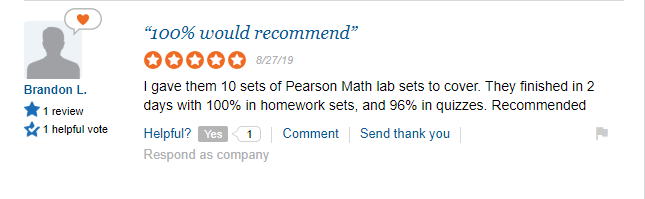 mymathlab answers review