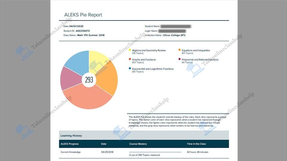 Aleks Program Answer