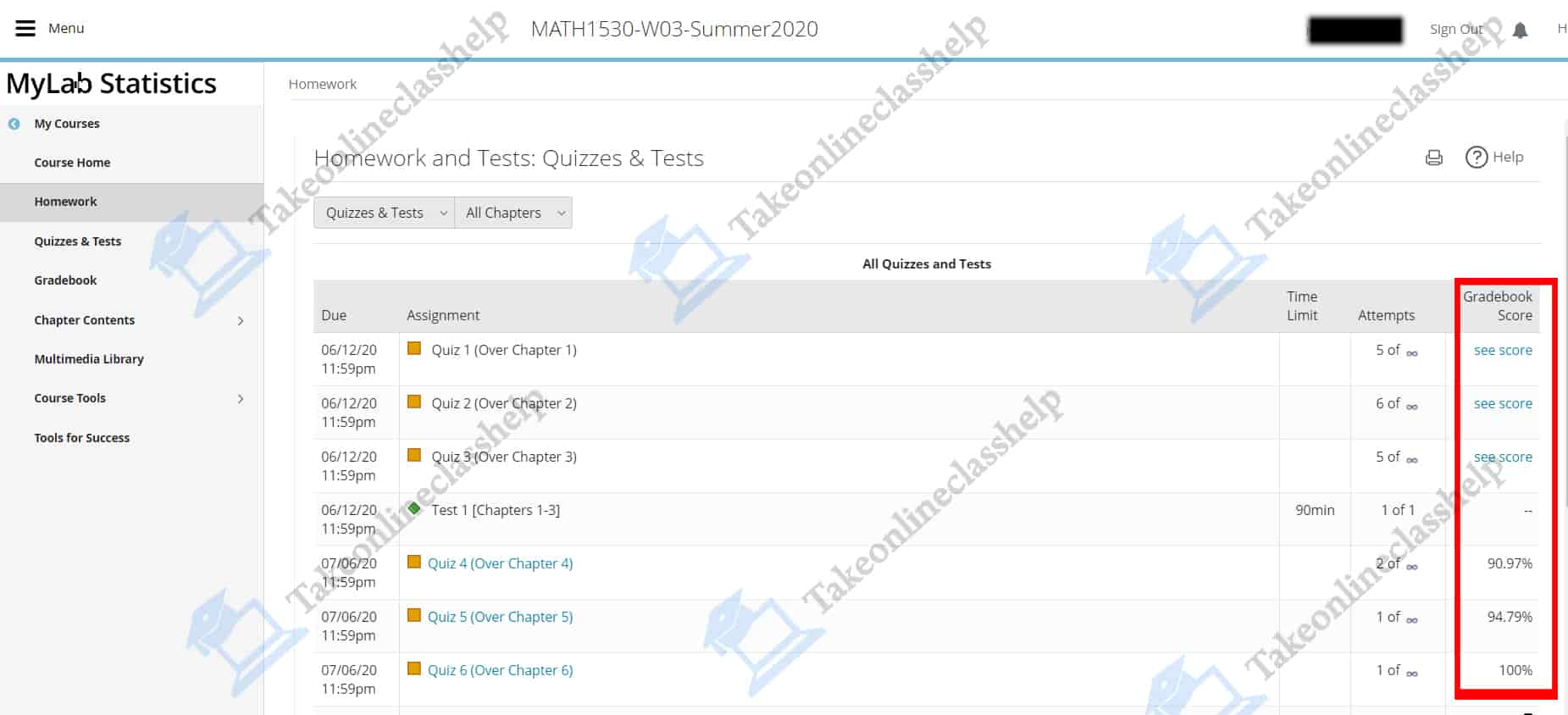 MyStatLab Quiz Answers