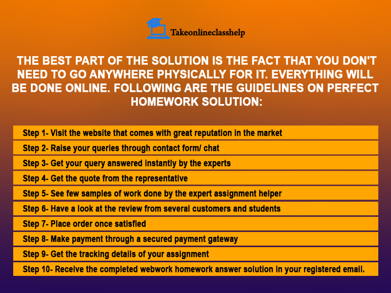 Guidelines on perfect homework solution